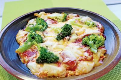 お餅のピザ